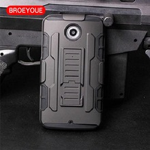 BROEYOUE For Motorola Google Nexus 6 XT1100 XT1103 Cover Impact Holster Shock-proof Hard Phone Cover for Google Nexus 6 Case(China)