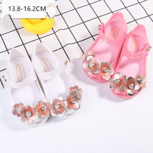 Mini Melissa 2 Color 2018 New Jelly Sandals Children's Sandals Flower Princess Melissa Jelly Shoes Sandals Jelly Sandals(China)