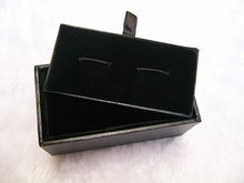 30pcs/lot Cufflink Boxes High End Festival Gift Box Jewelry Packaging Men  Leatherette Storage Cases