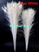 EMS Free shipping wholesale 1000pcs Bleached White Peacock Feather 80-90cm long Peacock tail Plumes(China)