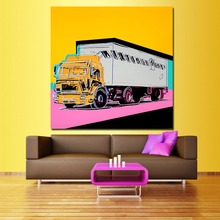 WANG ART Big Trucks Oil Painting Canvas Art Paintings For Living Room Wall No Frame Decorative Pictures