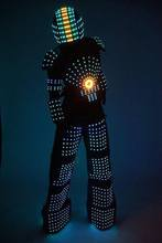 Free Shipping LED ROBOT SUIT / Kryoman stilts walker LED Robot