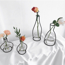 Vase abstract Black lines minimalist abstract iron vase dried flower vase racks Nordic flower ornaments