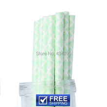 200pcs Easter Party Paper Straws Mint Damask Print, Food safe, Eco friendly Biodegradeable Cake Pop Sticks,Choose Your Colors(China)
