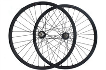"carbon wheels mountain bike 26/27.5/29er descent wheelsets 40x32 clincher hookless tubeless downhil rim used rueda 26"" mtb parts"