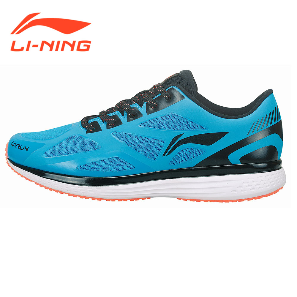 Li-Ning Brand Original Mens Running Sneakers Cushion Running Shoes Speed Star Series Light Blue Sports Wear ARHM001   LiNing<br>