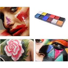Fashion Makeup Palette 12 Flash Tattoo Color Face Body Paint Oil Painting Art Make Up Halloween Party Fancy Dress(China)