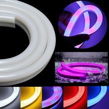 1/2/3/5/10/15//30M 2835 SMD Flexible Neon Rope LED Strip Light Christmas LED Outdoor Light Decor Waterproof 110V US Plug