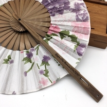 Free Shipping 30pcs/lot with Gift bag Bamboo Cherry Blossom Personalized Printed Chinese Japanese Folding Fan Wedding Invitation