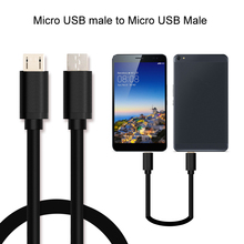 Micro USB Male to Micro USB Male Data charger cable Factory OEM for Android Mobile Phone KB