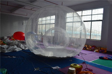 5m Dia without corridor hot transparent inflatable lawn bubble tent, bubble tree inflatable camping tent air pump free