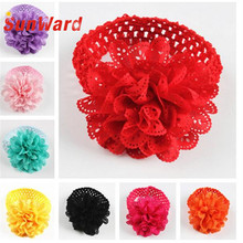 Hair clip for women hair accessories  hotselling Kids cute Lace Flower Hairband baby  Headband  flower crown baby SunWard