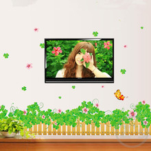 Flowers grass border wall sticker home decor diy adhesive art mural picture poster removable vinyl wallpaper AY7056