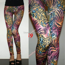 Colorful Leopard Leggings Cropped Fashion Wholesale Price Pants Pencil Skinny Funky Legging