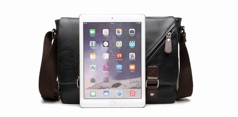 MJ Men\`s Bags Vintage PU Leather Male Messenger Bag High Quality Leather Crossbody Flap Bag Versatile Shoulder Handbag for Men (6)