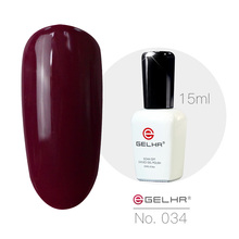 GELHR Gelpolish 15ml Color Gel 034  Red sandalwood Color Uv/Led Gel Varnishes Manufacturer Suppiler Wholesales