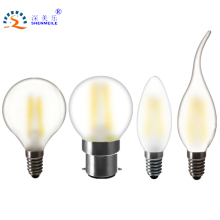 RXR High Quality Frosted LED lamp E14 E12 E27 E26 B22 2w 4w 6w C35 B10 220v 230V 110V 120V filament candle light bulb Retro lamp(China)