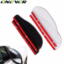 Universal Door Side Rear View Wing Mirror Rain Visor Board Snow Guard Weather Shield Sun Shade Cover Rearview Auto Accessories