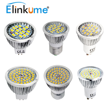 Elinkume GU10 E27 LED Bulb Spotlight GU10 Dimmable Led Lamp 5W AC 220V 5730SMD 16Leds Cold White/Warm White LED Lighting