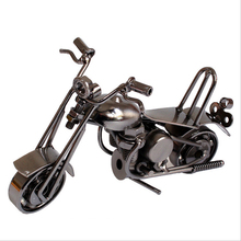 Lovely Mini Metal Model Motorcycles Iron Motorbike Models Toy Boys Gifts Kids Toys Wheel can be Moved Decorations Family(China)