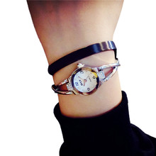 Women Watches 2017 Luxury Fashion And Casual Simple Bracelet Petite Temperament Bracelet Business Wrist Watch Reloj de las mujer(China)