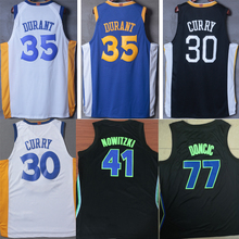 New men basketball jerseys Stephen Curry Kevin Durant Dirk Nowitzki luka Doncic jersey for cheap sale(China)