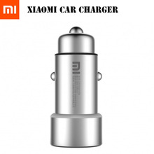 Original Xiaomi Car Charger, Mi Car Charger 2-in-1 Double USB Fast Charging Metal Style SILVER mobile phone charger For iPhone(China)