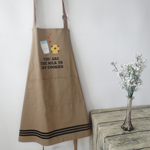 Cooking Apron Sleeveless Aprons Cotton Warrior Aprons Men Women Cooking Party Water Proof PE Apron