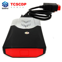 2015.R3/2014.R2 TCS CDP With Free Keygen OBD2 OBD Diagnostic Tool for Cars/Trucks TCSCDP With Green PCB Board Free Shipping(China)