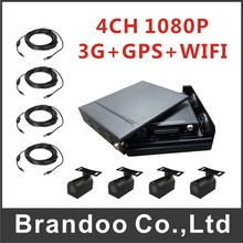 4CH 1080P HDD CAR DVR, includ 3G+GPS function, 4pcs mini HD car camera and 4pcs 5m video cable