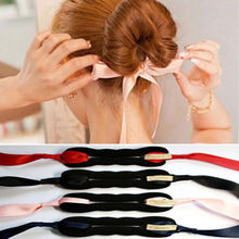 1 PC Fashion Women Magic Tools Foam Sponge Device Quick Messy Donut Bun Hairstyle Girl Hair Bows Band Accessories Silk Headband