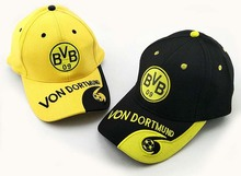 Top quality 23 teams for Borussia Dortmund Adjustable cotton football club badge caps BVB Souvenirs Gifts soccer Shower caps hat(China)
