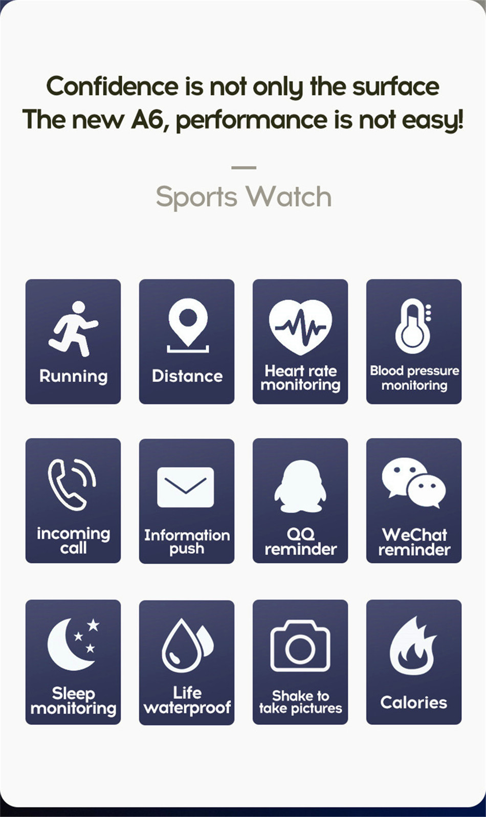 3-130435- Sport Smartwatch Women Heart Rate Monitor Smart Watch Men Blood Pressure Waterproof Fitness Tracker Watch For Android ios 2019