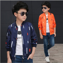2017 Brand Boy Autumn Spring Print Wind Jacket Long Sleeve Outdoor Sport Skiing Outwear Boy School Fashion Jacket Hot Sale(China)