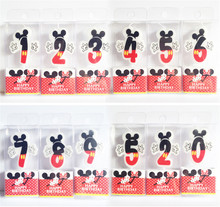 0 1 2 3 4 5 6 7 8 9 Mickey Minnie Birthday Candle Kids Birthday Party Favor Decoration Anniversary Cake Numbers Age Candle