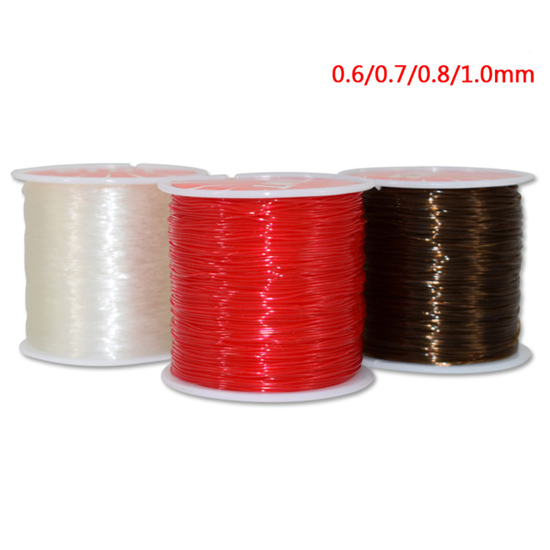 1Roll Elastic Stretch Beading String Cords Wire Jewelry Makings 0.6mm Thread Of
