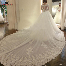 Buy Long Train Long Sleeve Pricess Lace Beading Formal Luxury Wedding Dresses Wedding Gown 2018 New Vestidos De Novia WS06 for $388.00 in AliExpress store