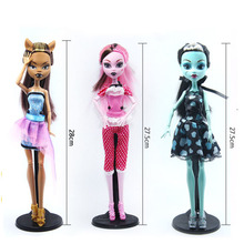 Dolls Monster Draculaura/Clawdeen Wolf/ Frankie Stein Moveable Joint Body High Quality Girls Plastic Classic Toys Gifts(China)