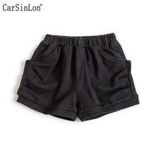 Free Shipping New Arrival Summer Cotton Casual Style Baby Girls Shorts Beach Pants Kids Trousers Childrens Short Pants Black(China)