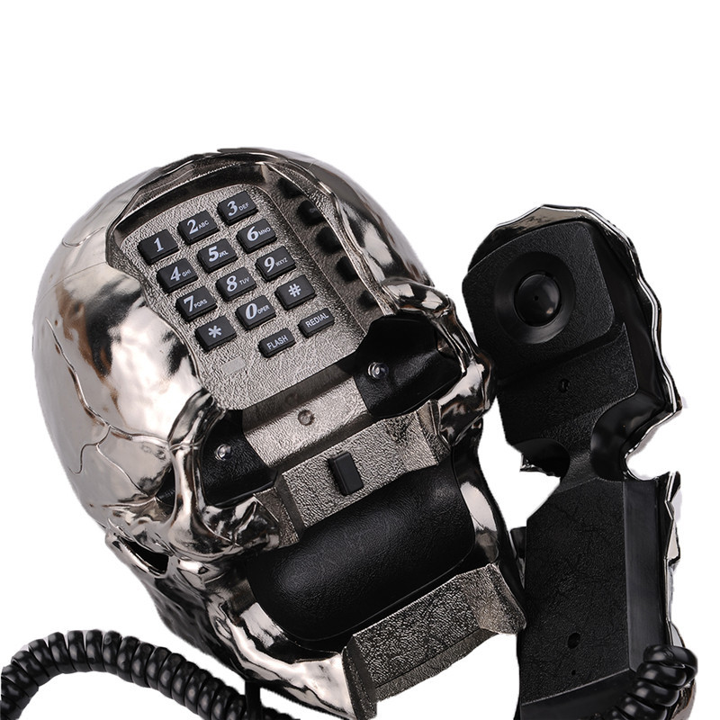 Newest telefone LED light Skull Skeleton Telephone Flashing Eyes