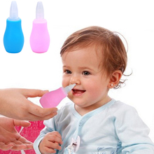 Silicone Newborn Baby Children Nose Aspirator Toddler Nose Cleaner Infant Snot Vacuum Sucker Soft Tip Cleaner Baby Care Products(China)