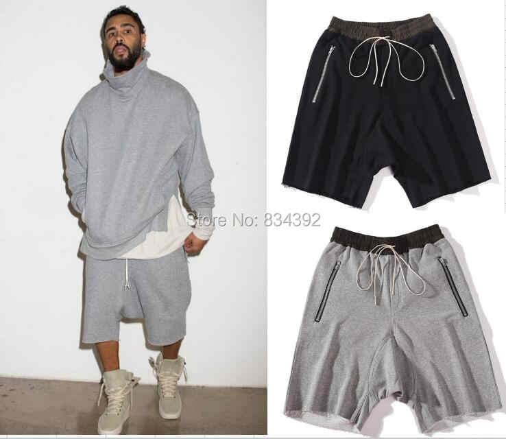 a69bb2a6315e Top quality luxury famous brand FOG FEAR OF GOD black grey shorts justin  bieber kanye