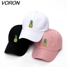 VORON men women Pineapple Dad Hat Baseball Cap Polo Style Unconstructed Fashion Unisex Dad cap hats(China)