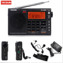 Free Shipping Tecsun pl-450 FM radio Stereo LW MV SW-SSB AIR PLL SYNTHESIZED PL450 secondary variable frequency radio Drop Ship