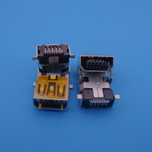 Mini 10 Pin USB Female socket Connector with Locating peg for repair mobile camera MP3 MP4 MP5 Phone, Tablet PC Netbook