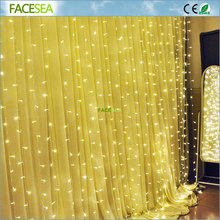 3m*3m 300led Window Curtain Icicle Lights String Fairy Light Wedding Party Home Garden Decorations Warm White Cool White
