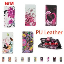 Deluxe Painted  PU Leather Filp Leathe Wallet Women Wallt Case Capa Cover For Sony Xperia E4 Dual E2105 Heart Meteor Colorful