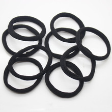 9 Pcs / set basic elastic hair bands daily use black hair scrunchy fashion simplicity ponytail holders hair accessories