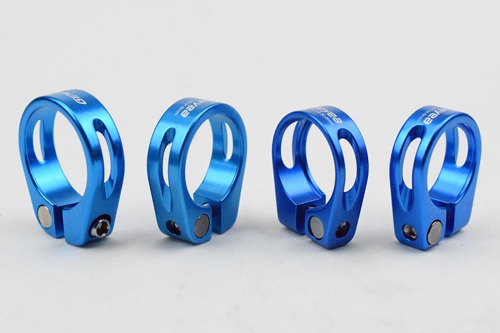 Morsetti reggisella per Bicicletta da 30 mm per MTB e Strada LAQI Colore Blu Blu