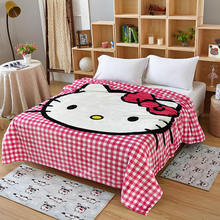 Home Textile Kitty Cartoon Flannel Blankets For Children Baby Girls Fleece Blanket Kids Warm Sheet  150*200cm dropship